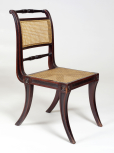 'Trafalgar' chair, English, John Robins (1776-1828), London, c.1810, mahogany with cane seats and backs, the cane on most of the chairs stained a dark colour