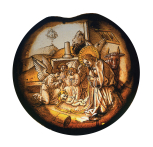<i>The Nativity</i>, stained glass roundel,  South German, 1480