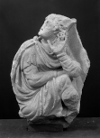 A sarcophagus fragment: the figure of Paris from a relief of the 'Judgement of Paris'