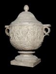 Funerary (cinerary) vase carved with a frieze of the labours of Hercules (Herakles).