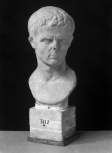 Roman bust of a man, perhaps the elderly Emperor Augustus