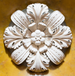 Rosette modelled after an antique original in the Temple of Mars Ultor, Rome