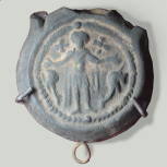 <i>Ampulla</i> (oil container from a lamp) from the Shrine of St Menas near Alexandria
