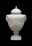 Cinerary vase with ammon heads, bukrania and garlands