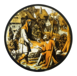 <i>The Prodigal asks for work</i>, stained glass roundel, workshop of Pieter Coecke van Aelst, Netherlandish, <i>c</i>.1550