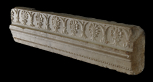 Section of a small frieze and architrave