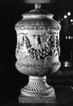 Roman cinerary vase carved with <i>bucrania</i> (ox skulls) and garlands
