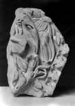 FRAGMENT OF A CARVED PILASTER-TYPE PANEL.