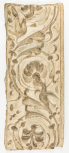 Cast of a pilaster panel with arabesque ornament: scrolling foliage springing from an acanthus(?) plant and two birds, perhaps from the Arch of the Argentarii, plaster.