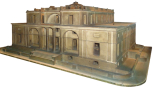 Model for Butterton House, Staffordshire, projected design, (designed by Sir John Soane), painted wood