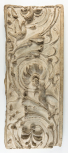 Cast of a pilaster panel with arabesque ornament: scrolling foliage springing from an acanthus(?) plant and two birds, perhaps from the Arch of the Argentarii.