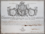 Engraved Diploma of the Academy of Fine Arts at Florence
